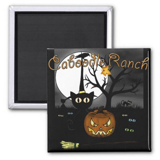 'Spooky Night' 2 Inch Square Magnet
