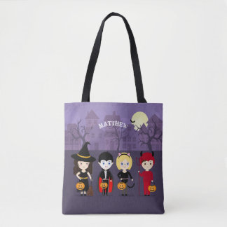 Spooky Night Halloween Party Tote Bag