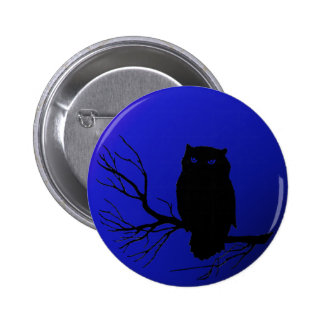 Spooky Night Owl Pinback Buttons