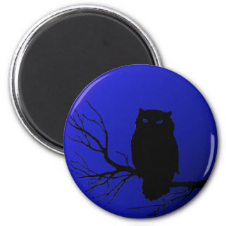 Spooky Night Owl Fridge Magnet