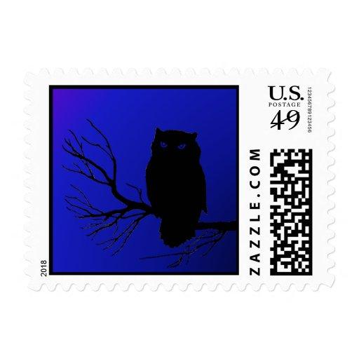 Spooky Night Owl Postage