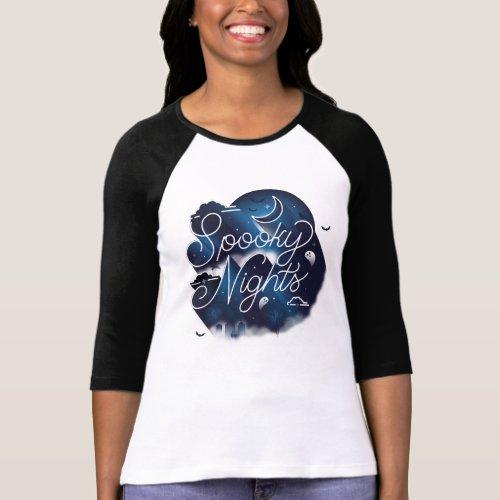 Spooky Nights II Baseball Tee T_Shirt