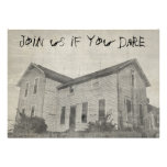 Spooky Old House Personalized Invitation