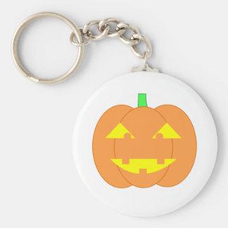 Spooky Orange Jack-o'-Lantern Keychain