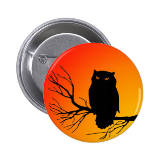 Spooky Owl 2 Inch Round Button