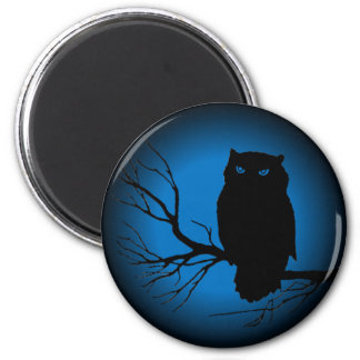 Spooky Owl Blue Moon Magnets