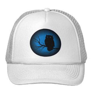 Spooky Owl Blue Moon Trucker Hat