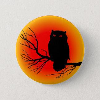 Spooky Owl Button