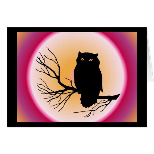 Spooky Owl Card