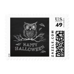 Spooky Owl Halloween Postage Stamps