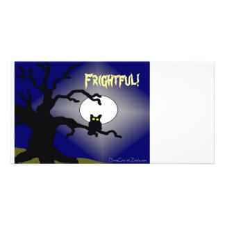 Spooky Owl in Tree Halloween Card