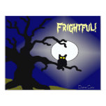 Spooky Owl in Tree Halloween 4.25x5.5 Paper Invitation Card