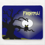 Spooky Owl in Tree Halloween Mouse Pad