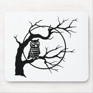 Spooky Owl in Tree Mousepads