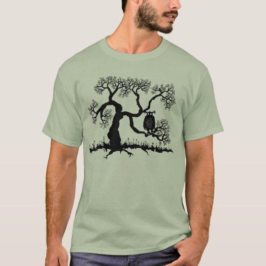 Spooky Owl In Tree T-Shirt