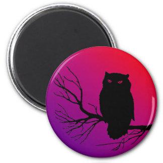 Spooky Owl Refrigerator Magnets