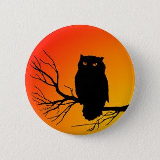 Spooky Owl Pinback Button