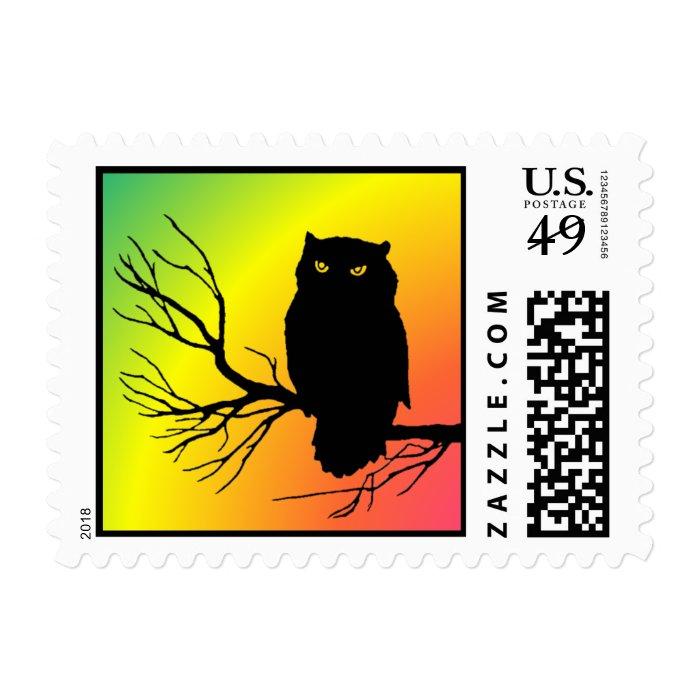 Spooky Owl Postage