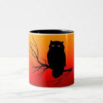 Spooky Owl Two-Tone Coffee Mug
