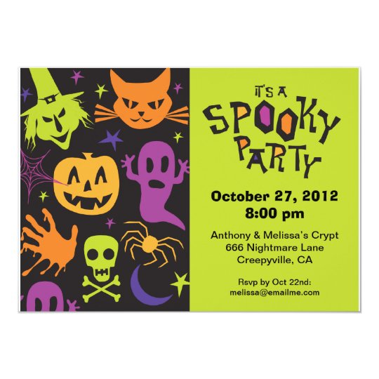 Spooky Party Card