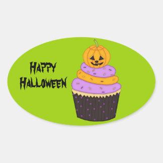 Spooky Pumpkin Cupcake/Halloween Goody-Bag Sticker