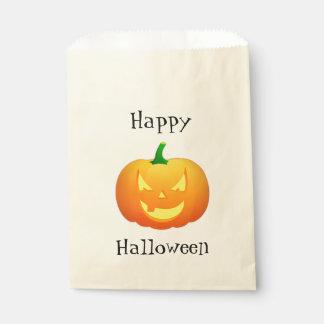 Spooky Pumpkin Face Customizable Favor Bag