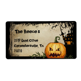 Spooky Pumpkin Halloween Address Labels