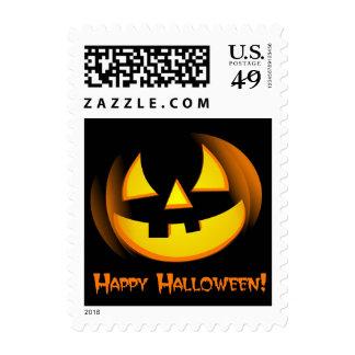 Spooky Pumpkin - Halloween Postage Stamps