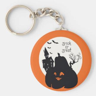 Spooky Pumpkin Trick Or Treat Keychain