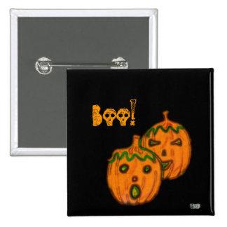 Spooky Pumpkins Badge 2 Inch Square Button