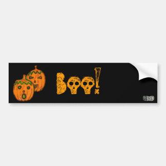 Spooky Pumpkins Bumper Sticker Car Bumper Sticker