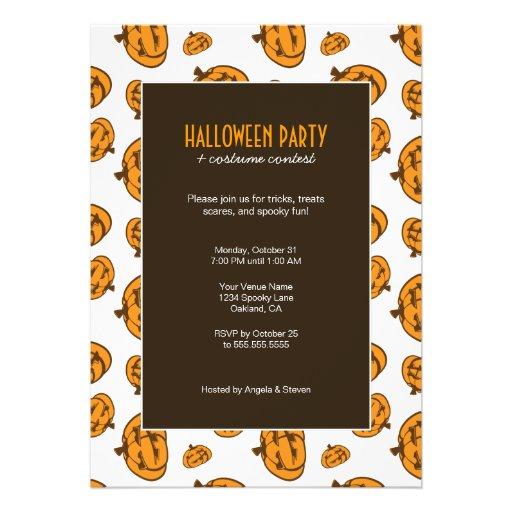 Spooky Pumpkins   Halloween Party Invitations