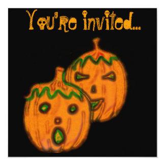 Spooky Pumpkins Invtations Card