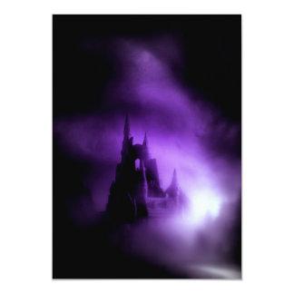 Spooky Purple Haunted Castle Custom Announcement
