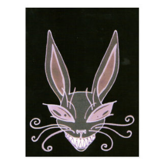 spooky rabbit post card