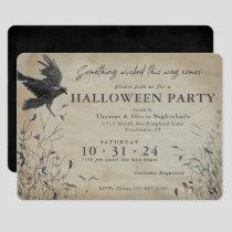 Spooky Raven Halloween | Something Wicked Invitation