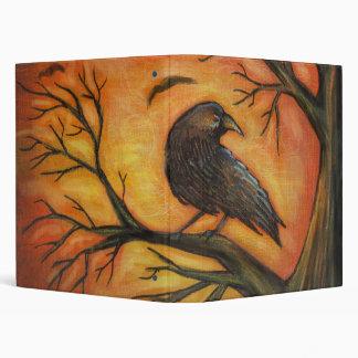 Spooky Raven Tree 3 Ring Binders