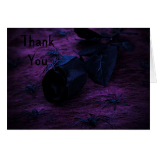 spooky rose Thank You Note Card