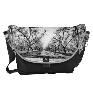 Spooky Row of Trees Messenger Bag