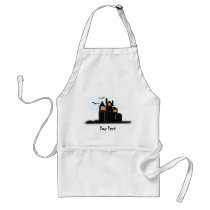 Spooky scary castle adult apron