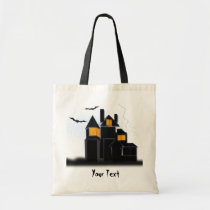 Spooky scary castle tote bag