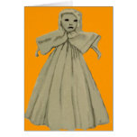 Spooky Scary Ghost Spirit Doll Child Card