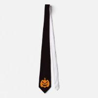 Spooky, scary Jack o lantern Halloween novelty tie