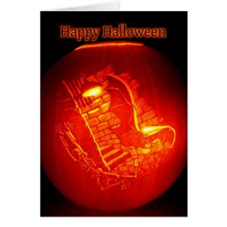 Spooky Scary Skeleton Halloween Card