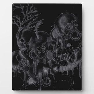 Spooky Shadow Gal Plaque