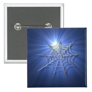 Spooky Shiny Spiderweb 2 Inch Square Button