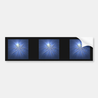 Spooky Shiny Spiderweb Bumper Sticker