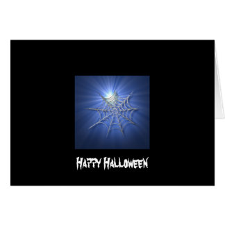 Spooky Shiny Spiderweb Card
