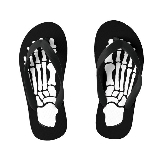 Spooky Skeleton Feet Kid's Flip Flops