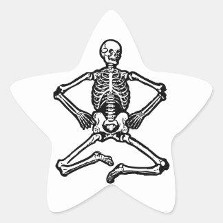 Spooky Skeleton Star Sticker